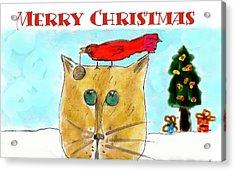 Mprints - Christmas Cheer 1 Acrylic Print