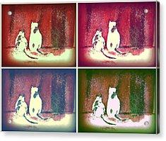 Mprints - Christmas Cheer 14 Acrylic Print by M  Stuart