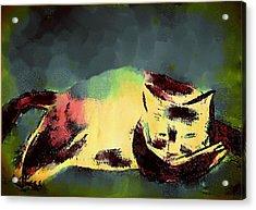Mprints - Christmas Cheer 25 Acrylic Print by M  Stuart