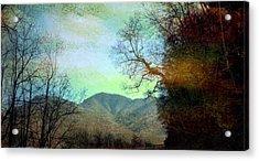 Mprints-smokey Mountain Memories Acrylic Print by M  Stuart