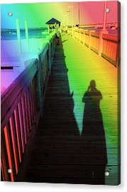 Mprints- The Long Walk Acrylic Print by M  Stuart