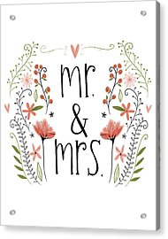 Mr. & Mrs Acrylic Print by Katie Doucette