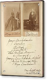 Mr And Mrs Cruikshank Acrylic Print by British Library