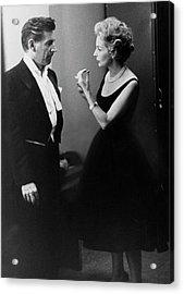 Mr. And Mrs. Leonard Bernstein Acrylic Print by Henry Clarke