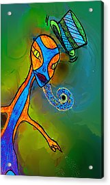 Mr Flutzit Acrylic Print by Josephine Ring