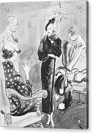 Mr. Goodman Advises Shoppers Acrylic Print by Carl Oscar August Erickson