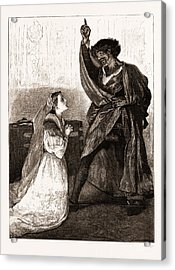 Mr. Irving And Miss Isabel Bateman In Othello At The Lyceum Acrylic Print by Litz Collection