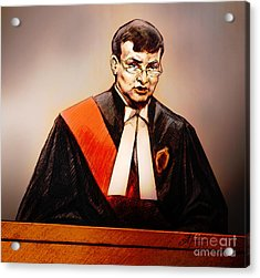 Mr. Justice Mcmahon - Judge Of The Ontario Superior Court Of Justice Acrylic Print by Alex Tavshunsky