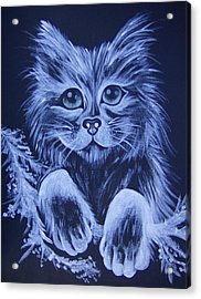 Acrylic Print featuring the painting Mr. Kitty by Leslie Manley