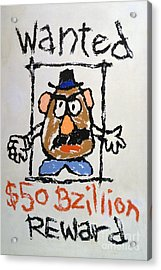 Acrylic Print featuring the photograph Mr. Potato Head Gone Bad by Robert Meanor