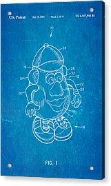 Mr Potato Head Patent Art 2001 Blueprint Acrylic Print by Ian Monk