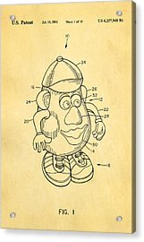 Mr Potato Head Patent Art 2001 Acrylic Print