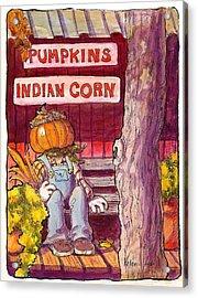 Mr. Pumpkin Acrylic Print