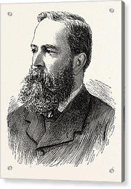 Mr. Richard Clay, Engraving 1890, Uk Acrylic Print by English School