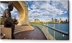 Mr Rogers Statue In Pittsburgh Acrylic Print by Emmanuel Panagiotakis