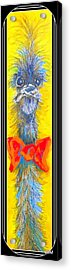 Mr. Saturday Night II Acrylic Print by Claire Sallenger Martin