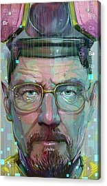 Mr. White Acrylic Print by Jeremy Scott