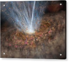 Mrk 231 Galactic Black Hole, Artwork Acrylic Print by Science Photo Library