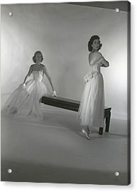 Mrs. Alfred Vanderbilt And Catherine Murray Acrylic Print