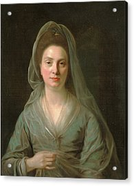 Mrs. Benjamin Cole, Nathaniel Hone, 1718-1784 Acrylic Print by Litz Collection