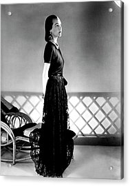 Mrs. Carroll Carstairs Wearing A Lace Skirt Acrylic Print