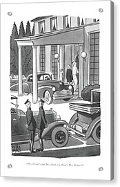 Mrs. Choate's Just ?ne Acrylic Print by Peter Arno