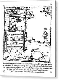 Mrs. Clearwhistle Acrylic Print