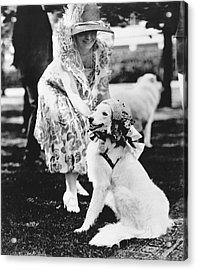 Mrs. Coolidge And Her Dog Acrylic Print