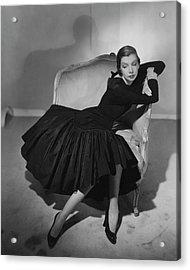Mrs. Fairfax Potter Wearing A Taffeta Dress Acrylic Print by Horst P. Horst