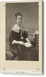 Mrs Fawcett Acrylic Print by British Library