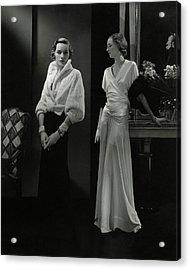 Mrs. Francis A. Wyman Wearing An Ermine Jacket Acrylic Print by Edward Steichen