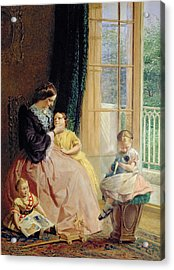 Mrs Hicks Mary Rosa And Elgar Acrylic Print by George Elgar Hicks
