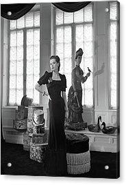 Mrs. John C. Wilson Wearing A Dinner Dress Acrylic Print by Horst P. Horst