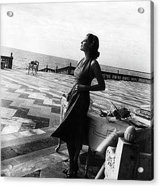 Mrs. John Ringling North On The Terrace Acrylic Print