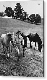 Mrs John West On Her Farm At Malvern Acrylic Print