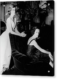 Mrs. Loel Guinness And Her Daughter Acrylic Print