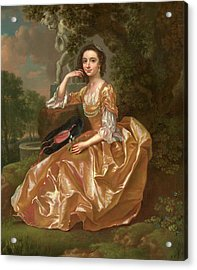 Mrs. Mary Chauncey A Young Woman Signed And Dated In Yellow Acrylic Print by Litz Collection