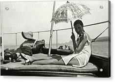 Mrs. Reginald Fellowes And Lady Juliet Duff Acrylic Print by Cecil Beaton