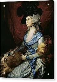 Mrs Sarah Siddons, The Actress 1755-1831, 1785 Oil On Canvas Acrylic Print by Thomas Gainsborough