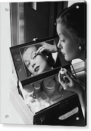 Mrs. Thomas Phipps Applying Make-up Acrylic Print by Constantin Joffe
