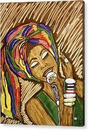 Ms. Badu Acrylic Print by Chrissy  Pena