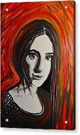 Portrait In Black #x Acrylic Print