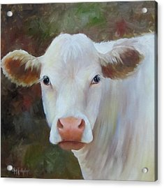 Acrylic Print featuring the painting Ms Petunia by Cheri Wollenberg
