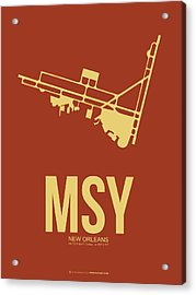 Msy New Orleans Airport Poster 1 Acrylic Print