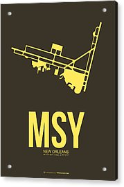 Msy New Orleans Airport Poster 3 Acrylic Print by Naxart Studio