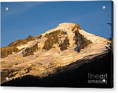 Acrylic Print featuring the photograph Mt.baker At Sunset  by Yulia Kazansky