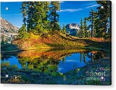Mt Baker Tarn In Fall Acrylic Print by Inge Johnsson