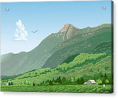 Mt Cheam In Summer Acrylic Print by Artellus Artworks