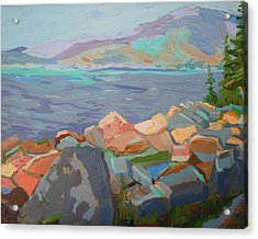 Acrylic Print featuring the painting Mt. Desert From Schoodic Point by Francine Frank