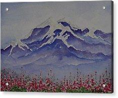 Mt. Drum Acrylic Print by Kathleen Keller